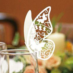 Bardak düğün dekorasyonu - kelebek
