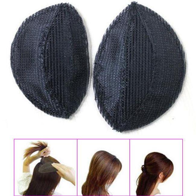 Piankowa podkładka  do zwiększenia objętości fryzury - 2 sztuki 1