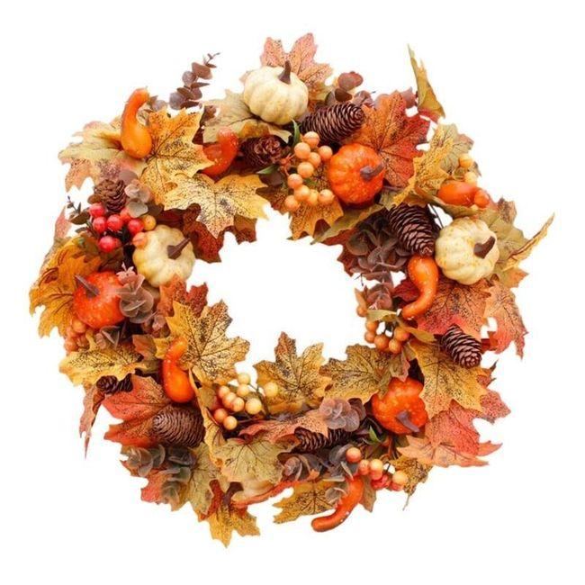 Jesienny wieniec na drzwi Nora 1