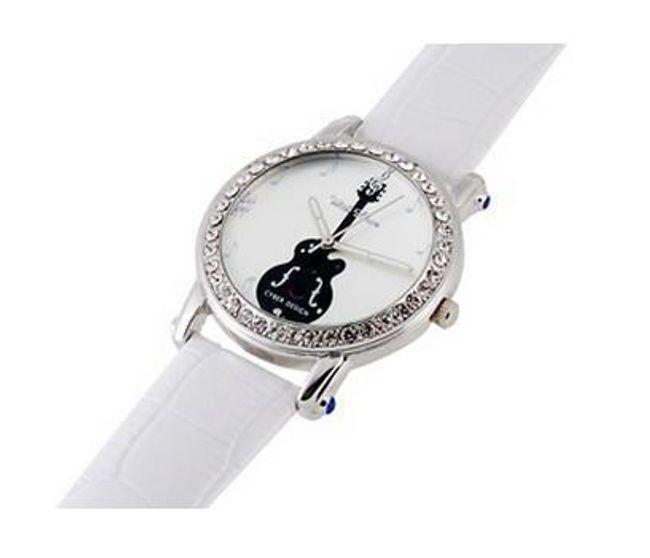 Dámské hodinky v hudebním designu - bílé 1