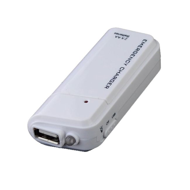 USB ładowarka na AA baterie do telefonów komórkowych i odtwarzaczy MP3 MP4  1