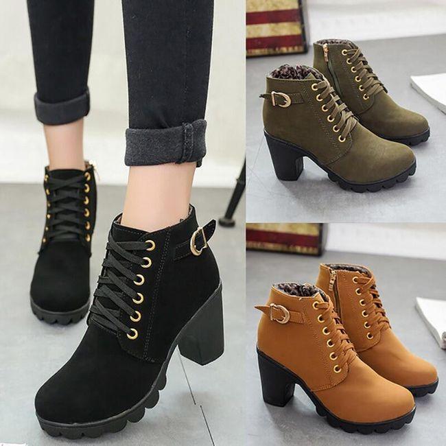 Női magas sarkú cipő - 4 színben