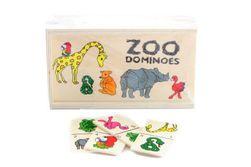 Dřevěné domino zoo SR_DS13016455