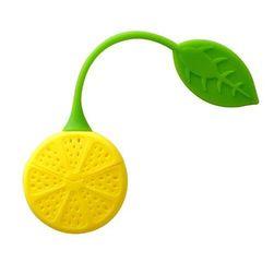 Filtru de silicon pentru ceai în formă de lămâie