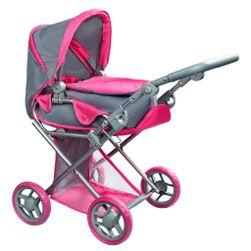 Multifunkčný kočík pre bábiky Elsa šedo-ružový RW_36466