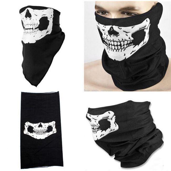 Оригинальный шарф с мотивом черепа 1