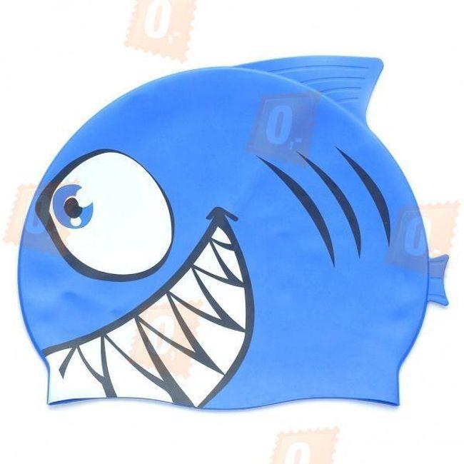Koupací čepice s motivem žraloka 1