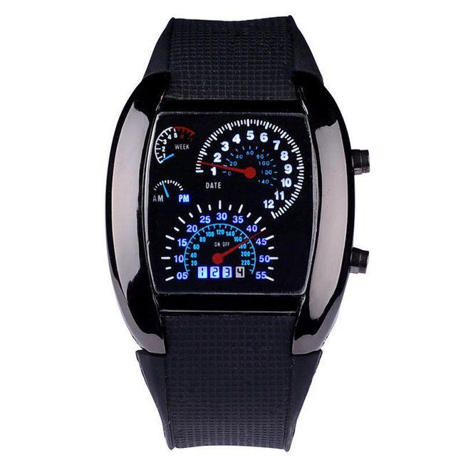 Automobilové hodinky - černá 1