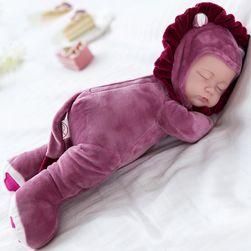 Alvó baba plüss testtel
