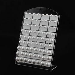 Stojánek na náušnice v bílé barvě