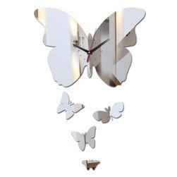 Nástěnné hodiny s motýlky - 3 barvy