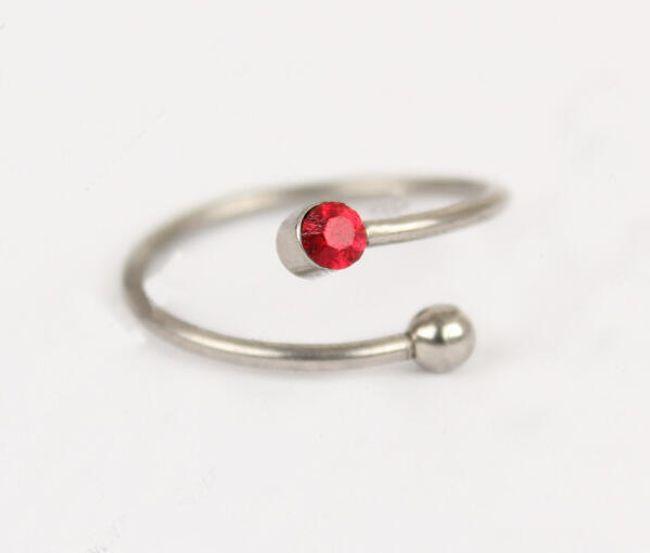 Rozsdamentes acél gyűrű lábra 1