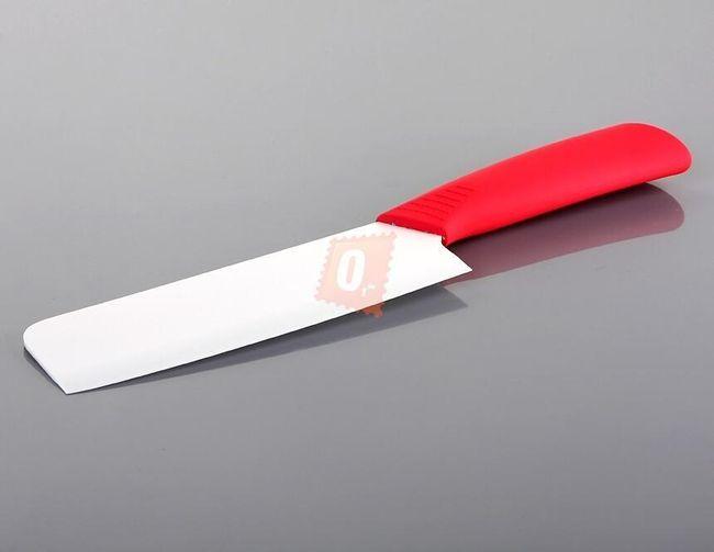 Keramický nůž čepel 152mm s červenou rukojetí 1