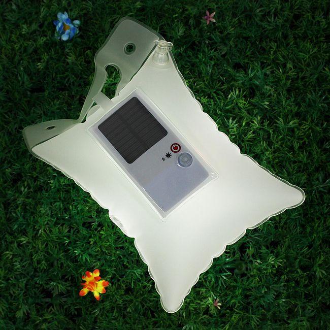 Solární a vodotěsná nafukovací LED lampa 1