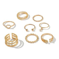 Komplet pierścionków Dinah