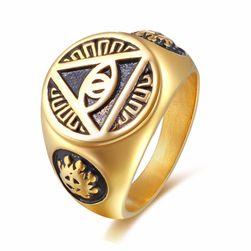 Pánský prsten ve 2 barvách
