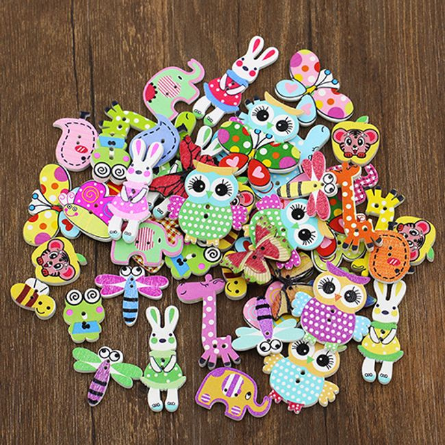 Set dugmića u obliku životinja 1