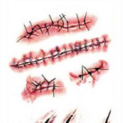 Fałszywe blizny i zadrapania - naklejka na ciało
