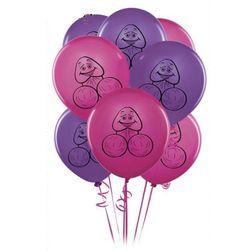 Baloane cu penis (10 bucăți) - diverse culori