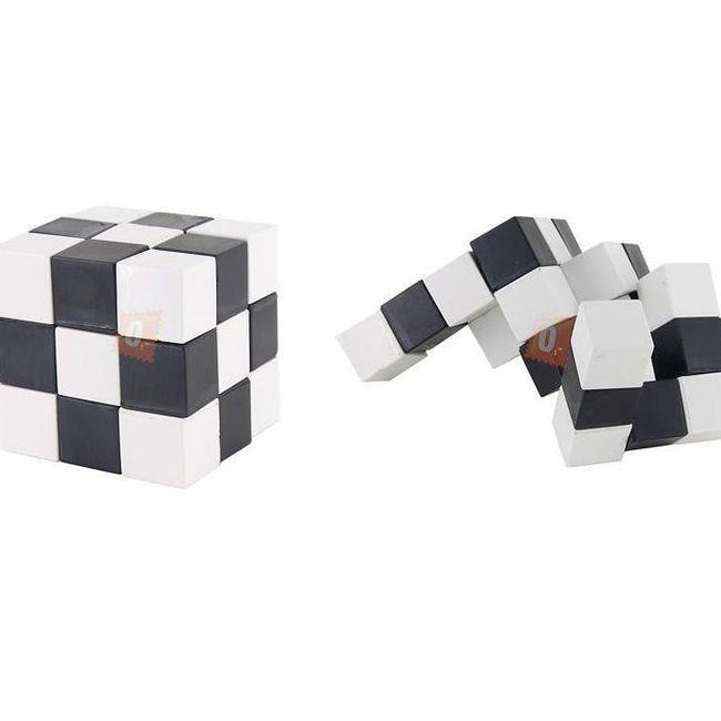Skládačka v podobě kostky - černobílá 1