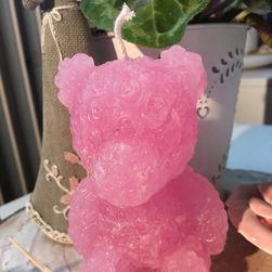 Svíčka Medvídek růžový par.