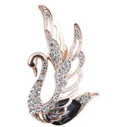 Nádherná brož ve tvaru labutě
