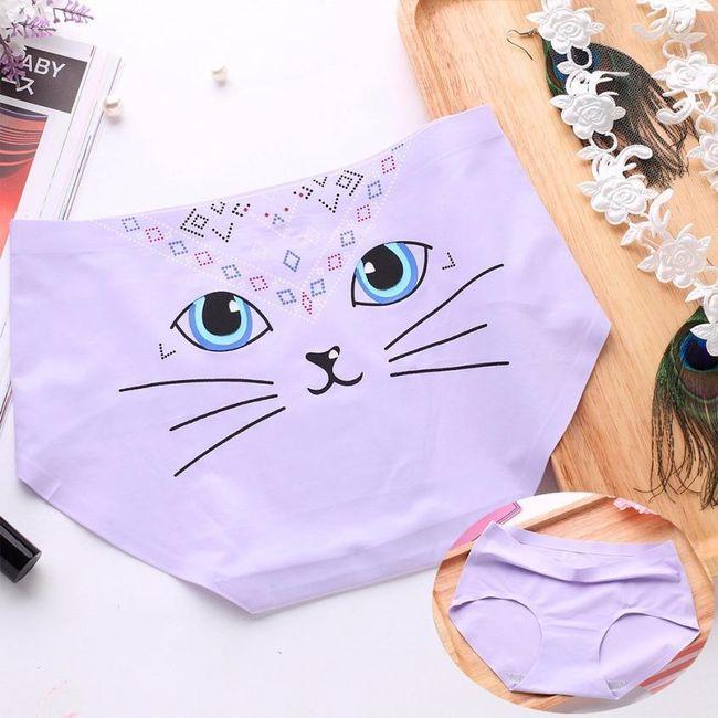 Varrat nélküli fehérnemű macskával - különböző színekben