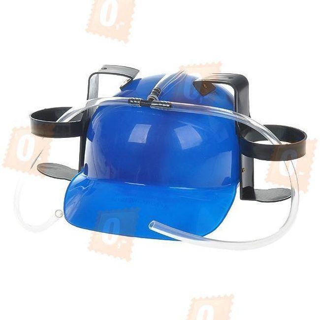 Pivní helma - modrá 1