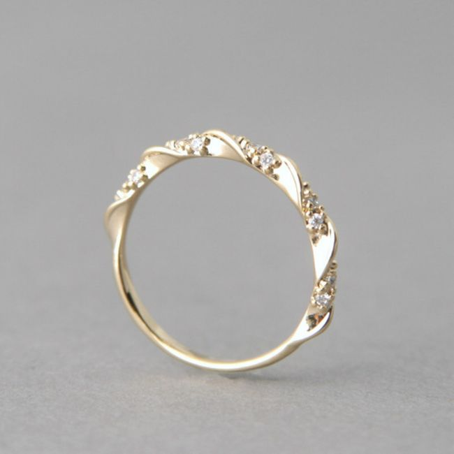 Ženski romantični prsten sa kamenčićima - 3 boje 1