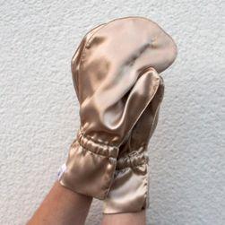 Luxusní hedvábné rukavičky pro omlazení pleti - ZLATÉ S