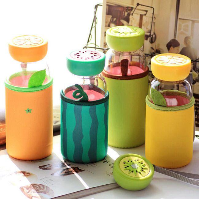 Sticlă cu design fruct 1