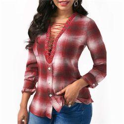 Dámská košile s hlubokým výstřihem - 3 barvy