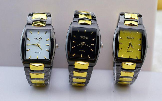 Ceas elegant pentru bărbați cu cadran dreptunghiular 1