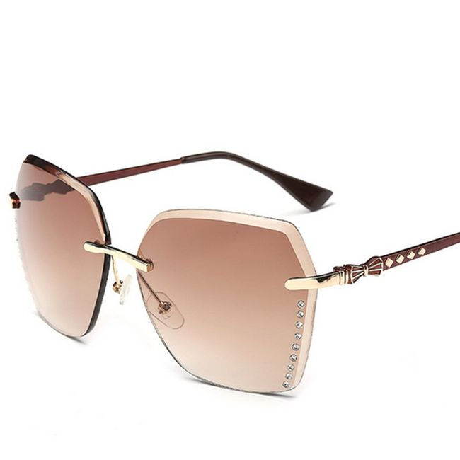 Hranaté sluneční brýle s kamínky - 6 barev 1