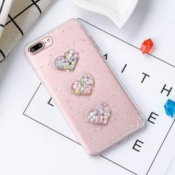 Pouzdro na iPhone se srdíčky a barevnými kuličkami