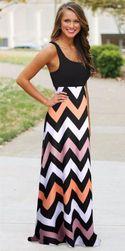 Dugačka letnja šarena haljina - više varijanti