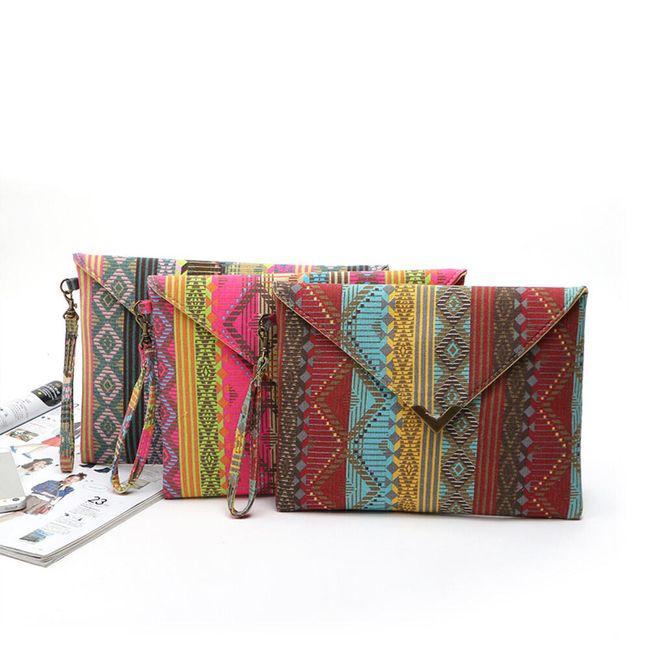 Dámská kabelka - barevné vzory 1