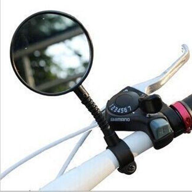 Велосипедное зеркало заднего вида - черный цвет 1