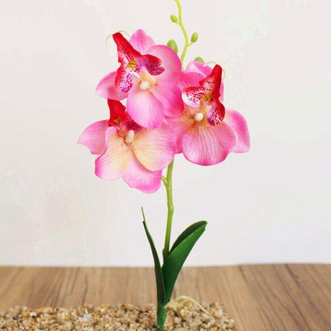 Veštačka orhideja sa tri cveta - 5 boja 1