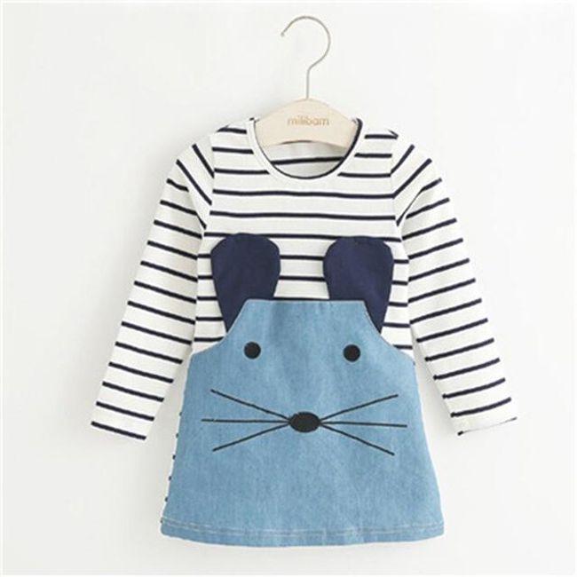 Dětské šaty - varianta s dlouhým i krátkým rukávem 1