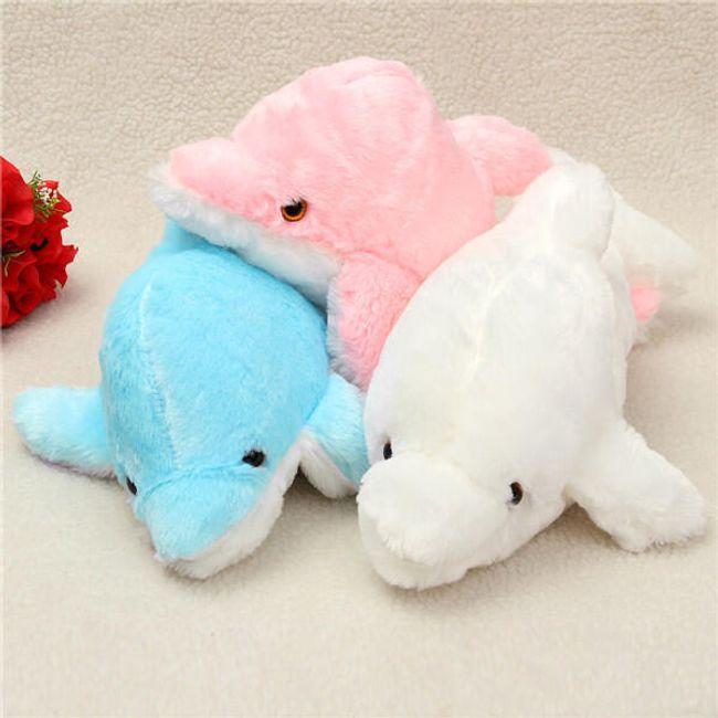 Мерцающий плюшевый дельфин- 43 см. 1