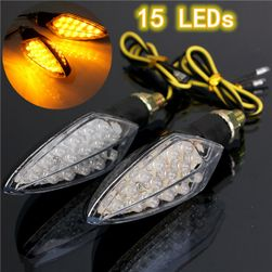 LED-es jelek a motoron - 15 dióda