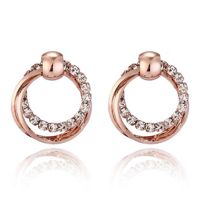 Elegantní dvojité kruhy s kamínky 1