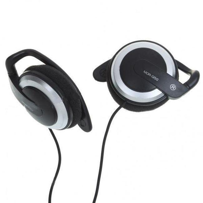 Stereo sluchawki Earhook 3,5mm - czarno-srebrne 1