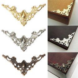 12 sztuk dekoracji narożych na pudełko na biżuterię lub książki