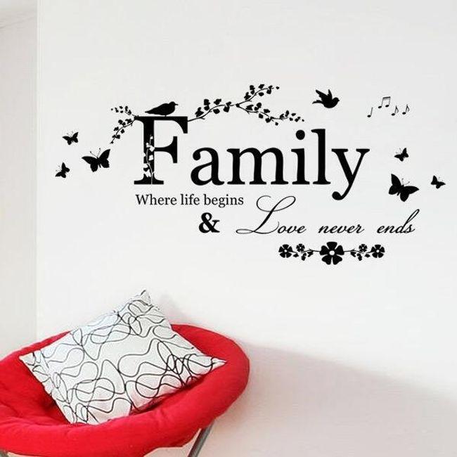 Stenska nalepka z napisom Family 1