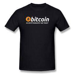 Pánské tričko s logem Bitcoin - čerrná barva