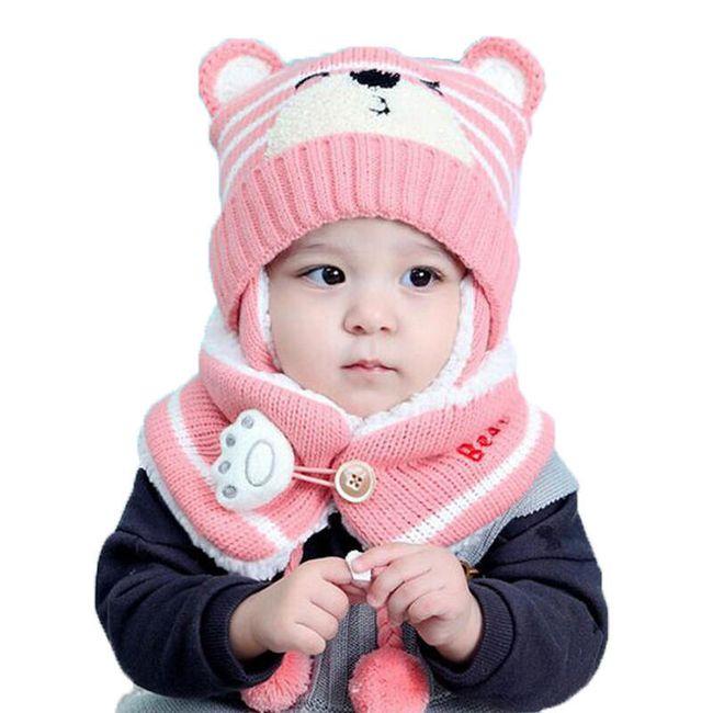 Dětská  čepice s nákrčníkem F25 1