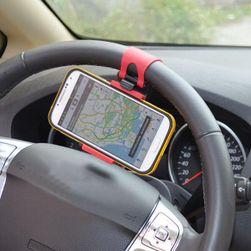 Держатель смартфона или GPS на автомобильный руль - красный