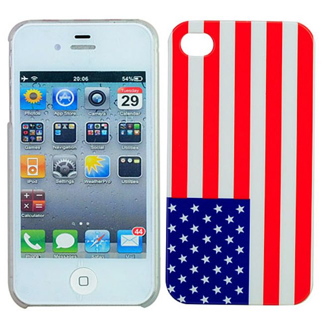 Plastový ochranný kryt na iPhone 4 a 4S - vlajka USA 1